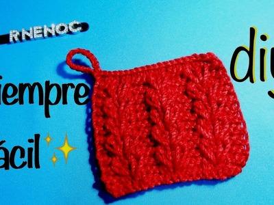 Punto fantasía tejido en dos agujas Principiantes, Knitting DIY for beginners