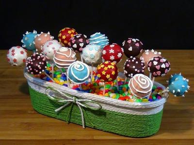 Receta Cake pops (Tartas en piruletas) - Recetas de cocina, paso a paso, tutorial