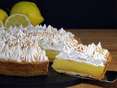 Receta Tarta de crema de limón con merengue o Lemon Pie - Recetas de cocina, paso a paso, tutorial