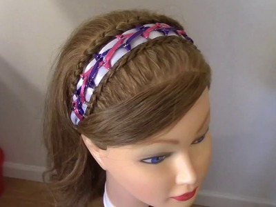 Tejido Diadema para Niña Peinado Decorado - Decorated Headband for Girls
