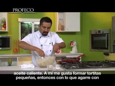 """Tortitas de carne con ejotes [""""Platillo Sabio Profeco"""" 16.2]"""