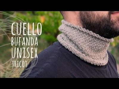 Tutorial Cuello Bufanda Unisex Tricot   Dos Agujas