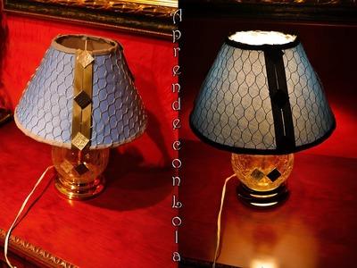 Tutorial de como decorar una lámpara. Aprende con lola