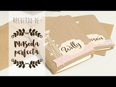 Tutorial INSPIRACIÓN para mini-libretas detalle de boda