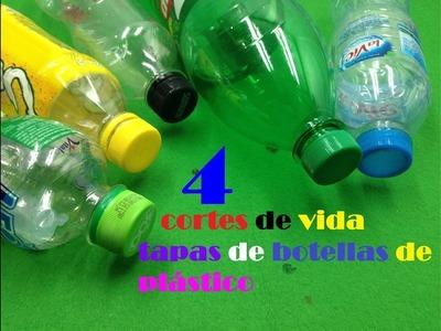 4 ideas con tapas de botellas de plástico | 4 ideas impresionantes