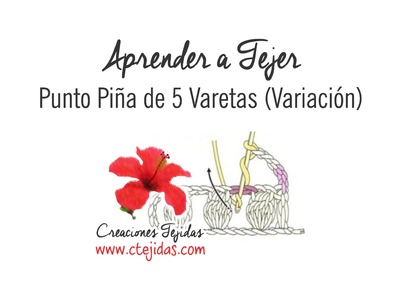 Aprender a Tejer - Punto Piña (Variación)