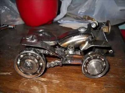 Artesanias en hierro , motos , trikes y cuatris en miniautura
