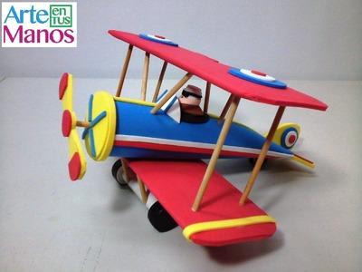 Avión con Material Reciclado y Foami, Paso a Paso