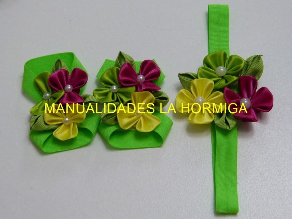 Kanzashi diy flores kanzashi en cinta para decorar - Cintas para decorar ...