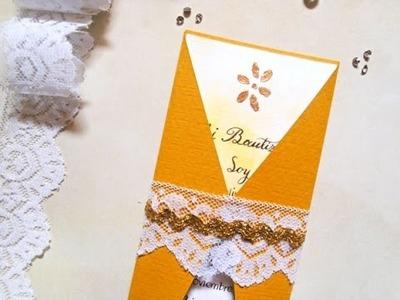 Cómo aplicar foil con estencil en una tarjeta - Técnica papel foil
