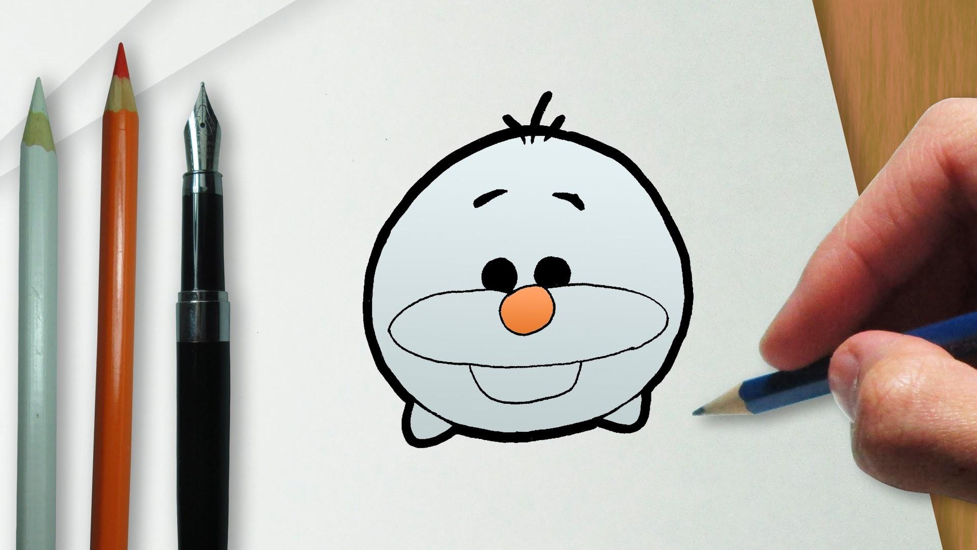 Coloreando El Tsum Tsum De Minnie Aprende A Colorear: Cómo Dibujar Olaf En La Versión Disney Tsum Tsum