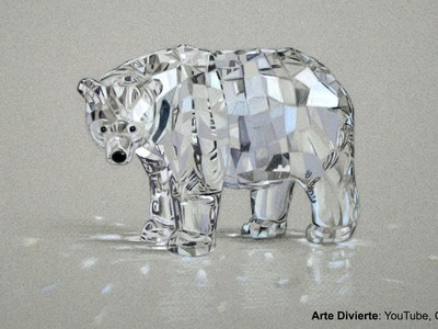 Cómo dibujar un oso de cristal Swarovski con lápices de colores - Arte Divierte