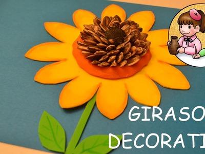 Cómo hacer un Girasol Decorativo | Actividades Manuales