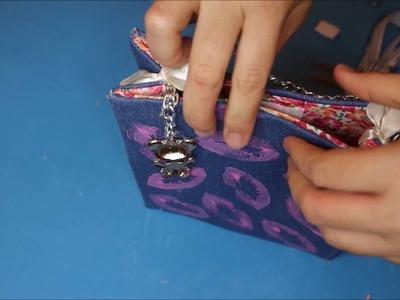 DIY Bolsito de Mano facil y Rapido ( Tela Reciclada)