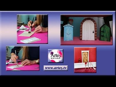 Escenografia: como hacer puerta tallada en miniatura