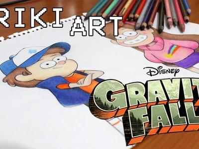 GRAVITY FALLS - DIBUJANDO A DIPPER Y MABEL  | Friki art