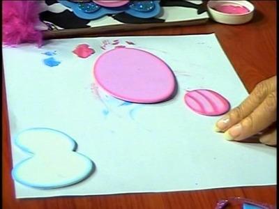 Mimi Luna con Jenny Perez creando en Foamy Forro de Cuadernos 2.4