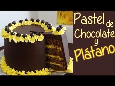 Pastel de chocolate y plátano - Suave bizcocho de chocolate