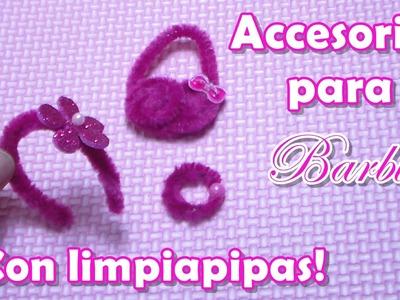 Accesorios para Barbie ¡Con limpiapipas!