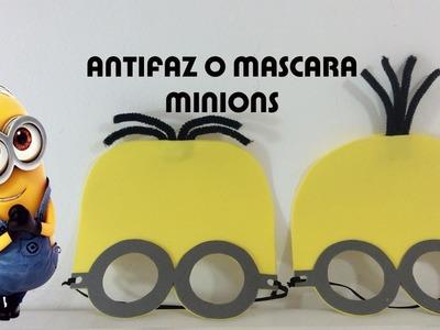 ANTIFAZ O MASCARA PARA NIÑOS  DE LOS PERSONAJES DE MINIONS