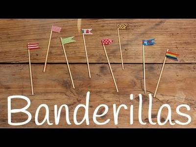 Banderines con washi tape | Decoración fácil para niños