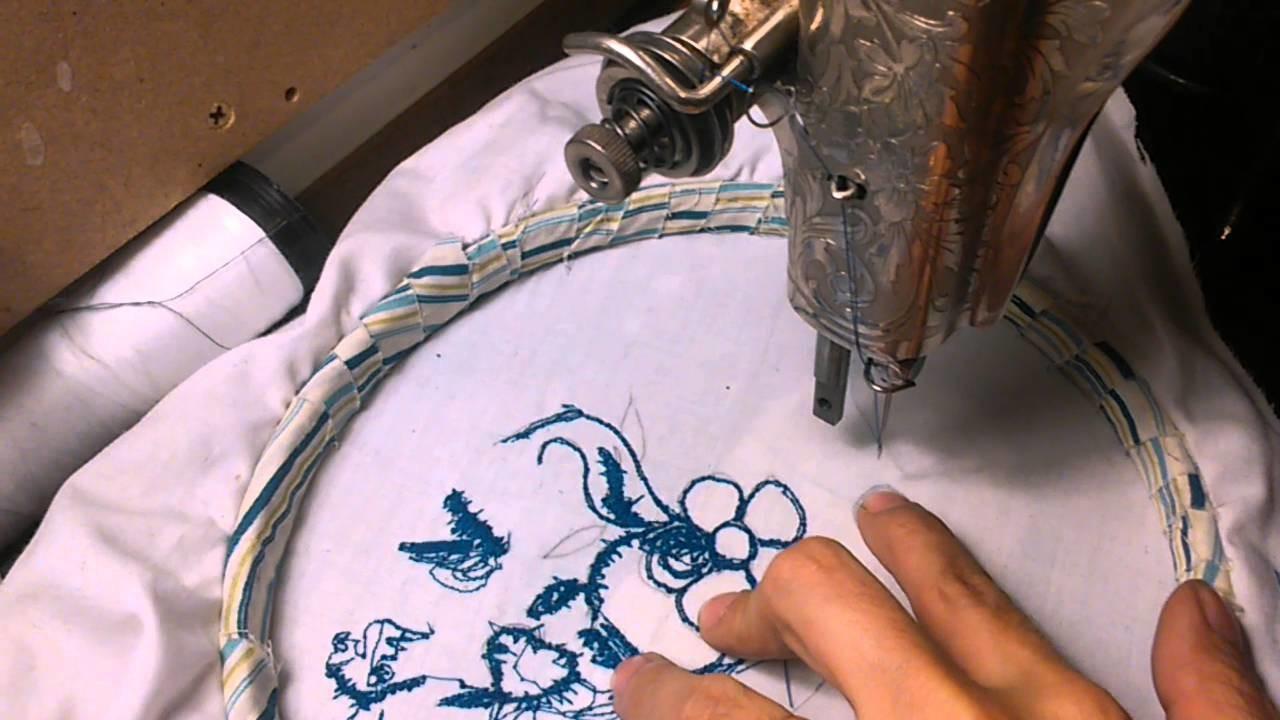 Cómo bordar con una máquina de coser antigua