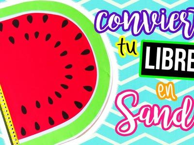 CONVIERTE TU LIBRETA EN SANDIA ♥ ♥ ♥. TUTORIAL