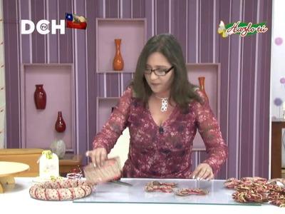 Corona navideña con arpillera  - Yasna Pino - Casa Puchinni