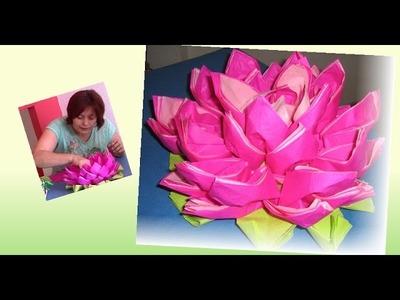 Flor con servilletas
