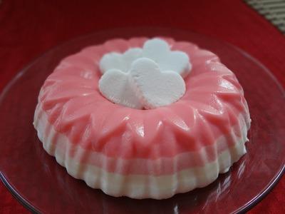 Gelatina de bombones o malvaviscos.marshmallow