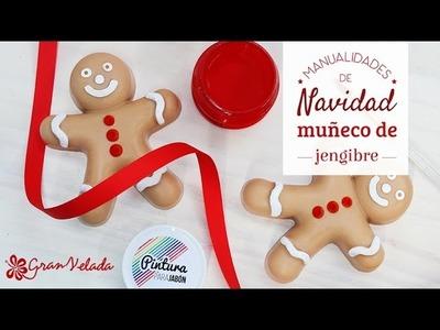 Hacer muñecos de jengibre de jabón para Navidad