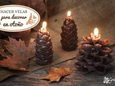 Hacer velas para decorar en otoño