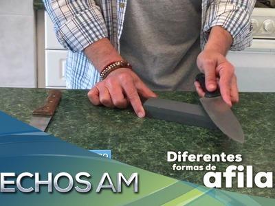 Hechos a mano | Diferentes formas de afilar cuchillos