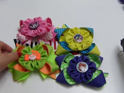 Hermosas flores faciles de liston para cualquier ocasion, video 550,Ribbon Hair Bow, Tutorial