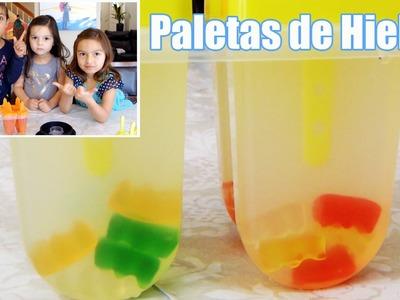 PALETAS DE HIELO CON GOMITAS