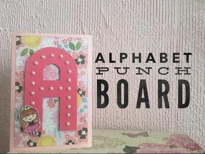 REVIEW Alphabet Punch Board.Letras de Papel