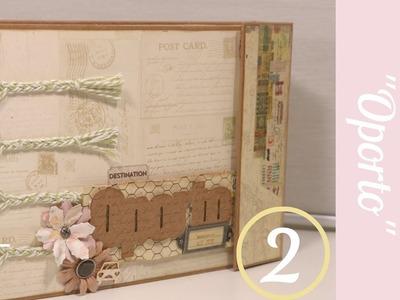Scrapbooking. Álbum Oporto (parte2).Como hacer bolsillos múltiples y usar imánes.Tutorial Scrapbook