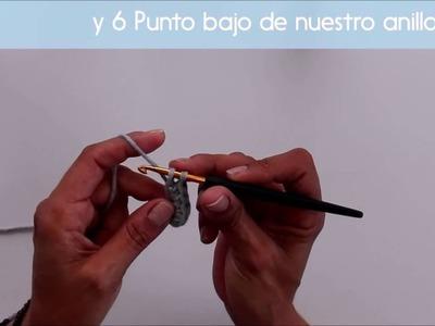 1. Amigurumis. Como hacer el anillo mágico y el punto bajo. El Taller de Terapia Ganchillera