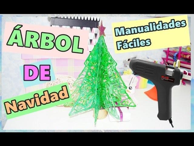 ÁRBOL DE NAVIDAD con SILICONA CALIENTE| MANUALIDADES FÁCILES  - BeagleArts ♥