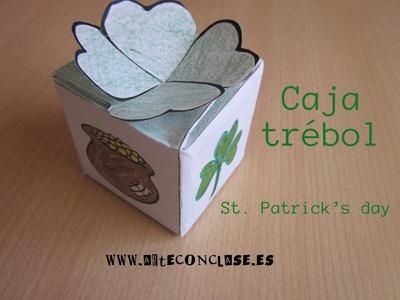 Arte con clase. St. Patrick's day: caja trébol