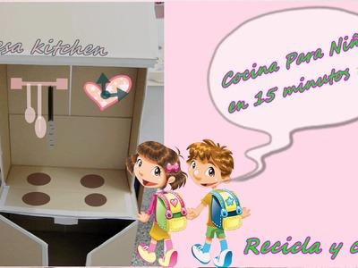 COCINA de JUGUETE para Niños Con Cajas De Cartón, CHILDREN's TOY kitchen - BeagleArts ♥