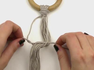 Cómo hacer nudo plano en macramé | WE ARE KNITTERS
