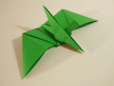 Como hacer un pterodactilo de papel - Dinosaurios de Origami