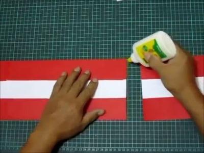 Cómo hacer una escarapela del Perú, fácil y sencillo