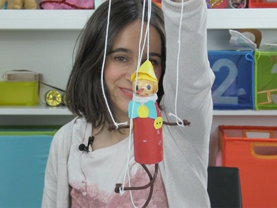 Cómo hacer una marioneta de Pinocho para los niños