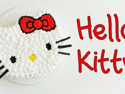 Como hacer una Torta de HELLO KITTY || Simple y Rápido