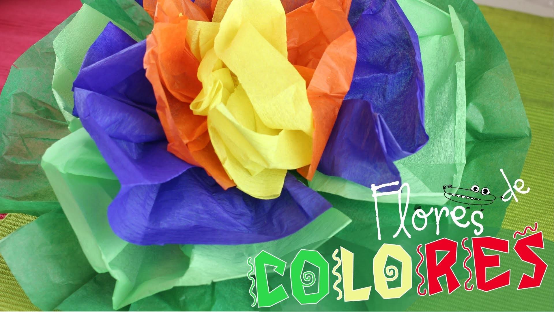 Flor de papel para fiestas