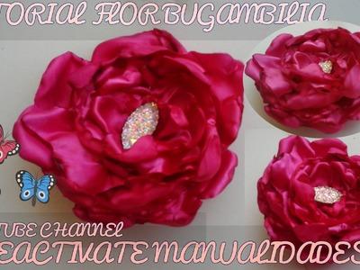 Flor de tela BUGAMBILIA , flores en cinta, Tiaras, diademas,valerinas, bows