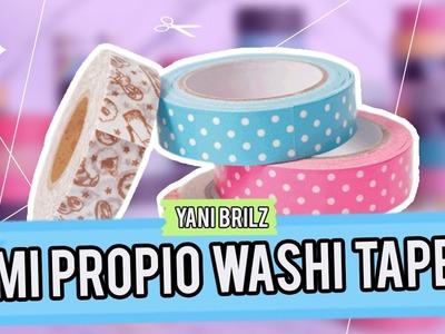 HAZ TUS PROPIAS CINTAS DECORATIVAS. WASHI TAPE ¡SUPER FÁCIL! @YANIBRILZ #MiniTips