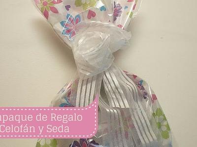 Manualidades: Como hacer EMPAQUE para REGALO en papel Celofán y Seda DIY  ♥ Sor Amparo Arredondo R.